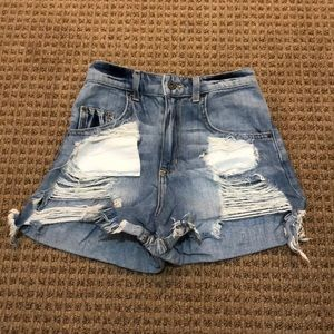Carmar destroyed Jean shorts